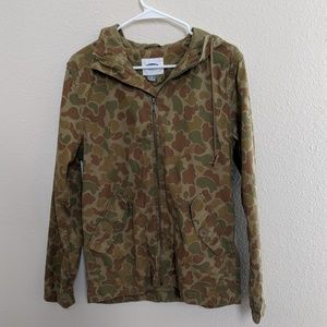 Old Navy Jacket Tactical Pockets Hooded Camouflage